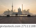 foggy day at The Bund morning , Shanghai 27111188