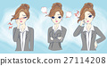 cartoon businesswoman feel upset 27114208