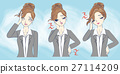 cartoon businesswoman feel tired 27114209