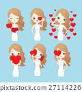 cartoon woman with valentine day 27114226