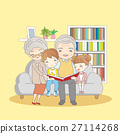 happy family reading book 27114268