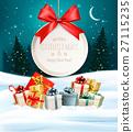 vector christmas card 27115235