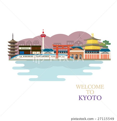 Illustration of the streets of Kyoto 27115549