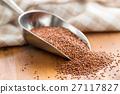 Red quinoa seeds. 27117827
