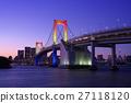 懸索橋 橋樑 晚景 27118120