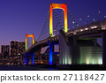 悬索桥 桥梁 晚景 27118427