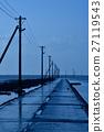 low tide, telegraph pole, electric pole 27119543