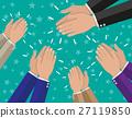vector, hand, celebration 27119850