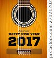 Happy New Year on the background of guitars and 27121202