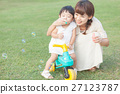 母女 父母和小孩 親子 27123787
