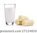 glass of milk and banana  27124830