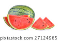 watermelon on white background 27124965