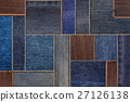 Denim jeans with leather tag texture background 27126138
