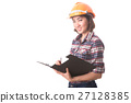 woman construction engineer with safety helmet 27128385