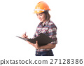 woman construction engineer with safety helmet 27128386