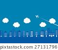 cityscape, airplane, plane 27131796
