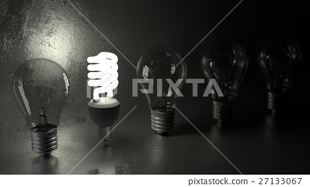 Energy saving light bulb stands out from the crowd 27133067