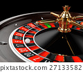 Casino gold roulette close up 27133582