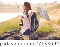 Beautiful Asia woman traveler,travel concept 27133694