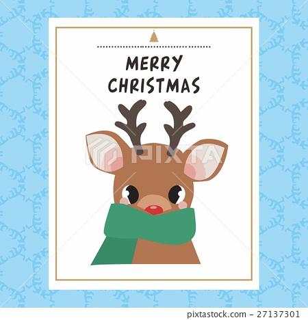 Christmas card template 27137301