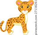 Cute cheetah cartoon 27138261