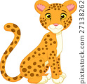 Cute cheetah cartoon 27138262