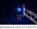 moon in a basketball hoop. 27139105