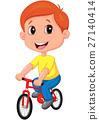 Boy riding bicycle 27140414