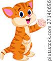 Cute baby cat cartoon 27140656
