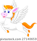 White unicorn horse cartoon 27140659