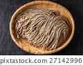 新鲜的荞麦面荞麦面设置日本面条 27142996