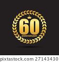Template Logo 60 Years Anniversary Vector 27143430