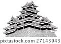 Matsumoto Castle [Hand-drawn] 27143943
