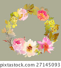 Greeting card with flowers 27145093