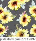 Sunflowers seamless pattern. 27145097