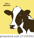 Abstract portrait of big cow.  silhouette. 27150303