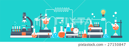 Vector illustration. Laboratory. Chemical research 27150847