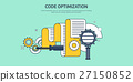 Vector illustration. Flat background. Coding 27150852