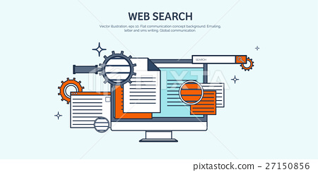 Vector illustration. Flat background. Coding 27150856