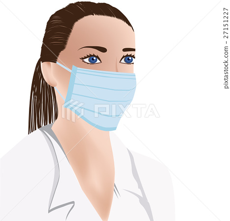 Doctor Face Medical Stock Female With - On Illustration Mask