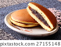 dorayaki, two small pancakes with bean jam in between, wagashi 27155148