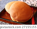 dorayaki, two small pancakes with bean jam in between, wagashi 27155155