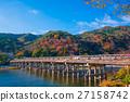 Autumn leaves of Arashiyama in Kyoto 27158742