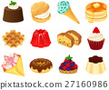 pastry, western confectionery, set 27160986