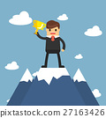 Businessmen go to the top of mountain.  27163426