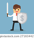 Businessman with shield 27163442