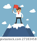 Businessmen go to the top of mountain.  27163458
