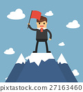 Businessmen go to the top of mountain.  27163460