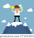 Businessmen go to the top of mountain.  27163464