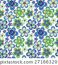 Seamless colorful retro flower background pattern 27166320